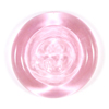Same hue as Rose Quartz only transparent instead of opalescent.  Compared to other transparent pinks available in the market, seems to be the most saturated.