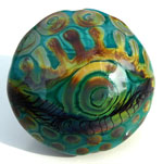 "Messy Mermaid bead named ""Eye see you for all the beautiful things you are and will become"""