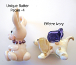 Bunny is Unique Butter Pecan -4, Desert Pink, & Thai Orchid; Doggie is Effetre light ivory